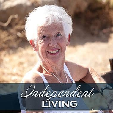 Happy Independent Living Resident at Skyline Place Senior Living.