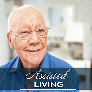 Assisted living resident at White Cliffs Senior Living