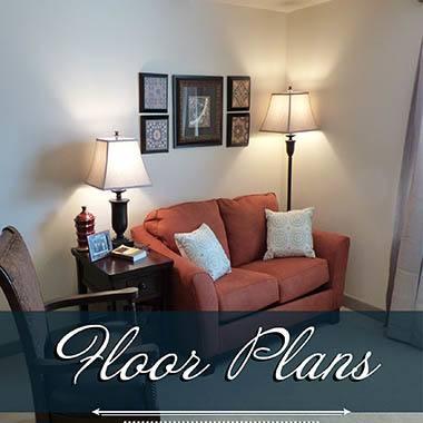 Assisted living floor plans at White Cliffs Senior Living