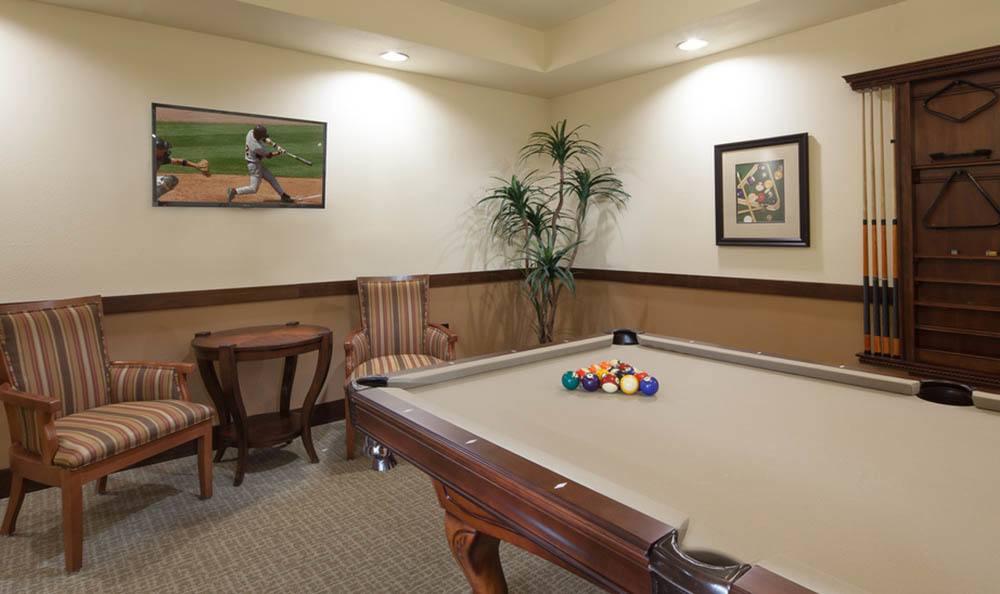 Billiards Table At White Cliffs Senior Living in Kingman