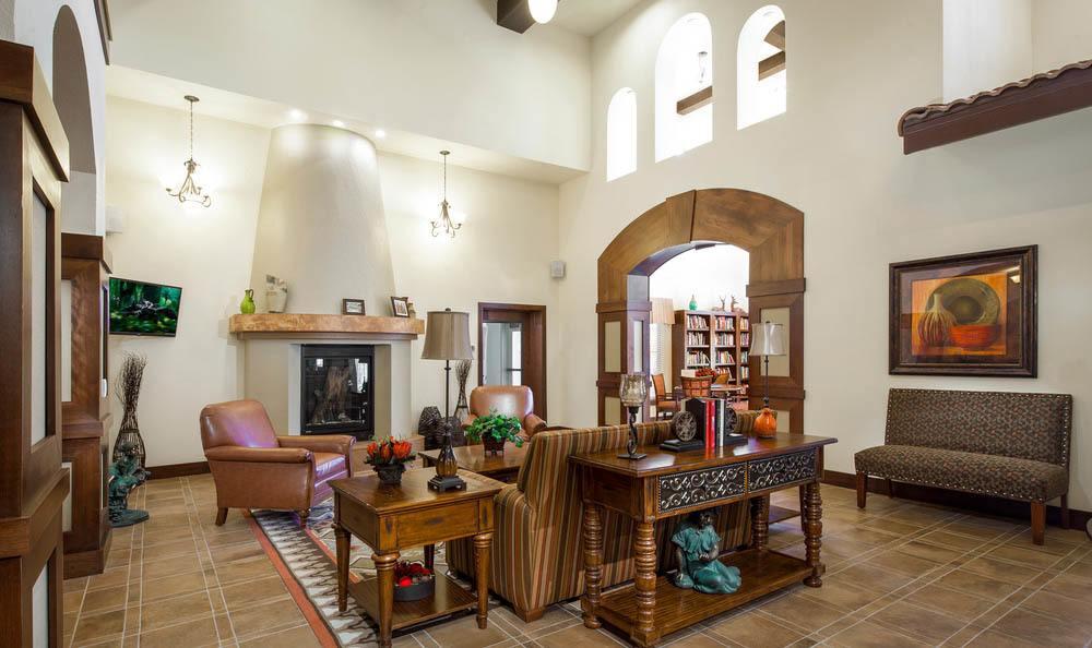 Community Lounge at White Cliffs Senior Living in Kingman