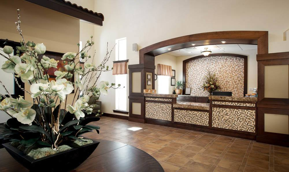 Beautiful Front Lobby at White Cliffs Senior Living in Kingman