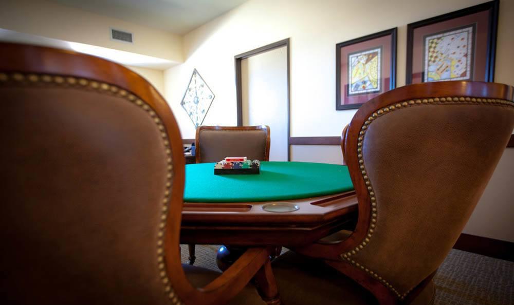 White Cliffs Senior Living Poker Table in Kingman.