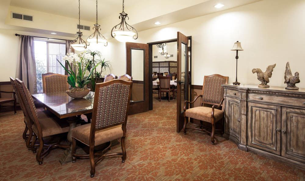 Private Dining Area at White Cliffs Senior Living in Kingman