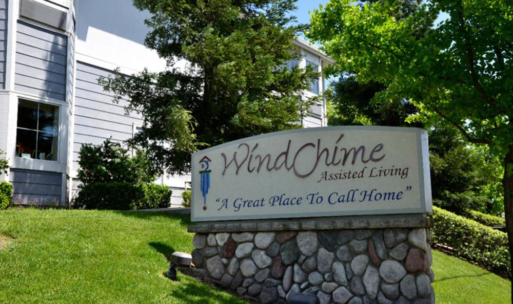 Front Entrance Sign At Windchime of Chico