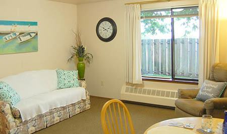 Bedroom at Cap Sante Court Retirement Community in Anacortes