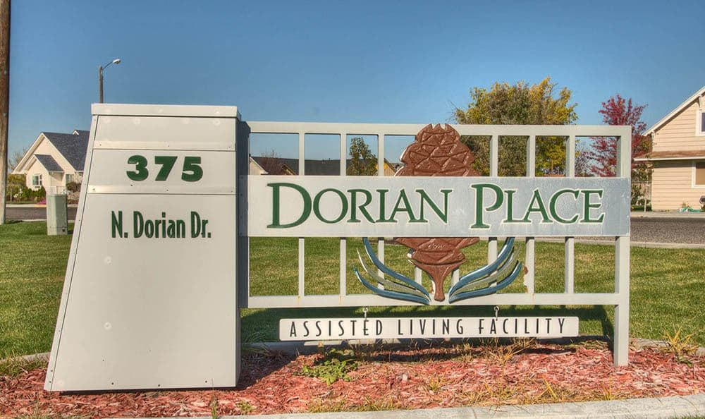 Front Entrance Sign at Dorian Place Assisted Living in Ontario