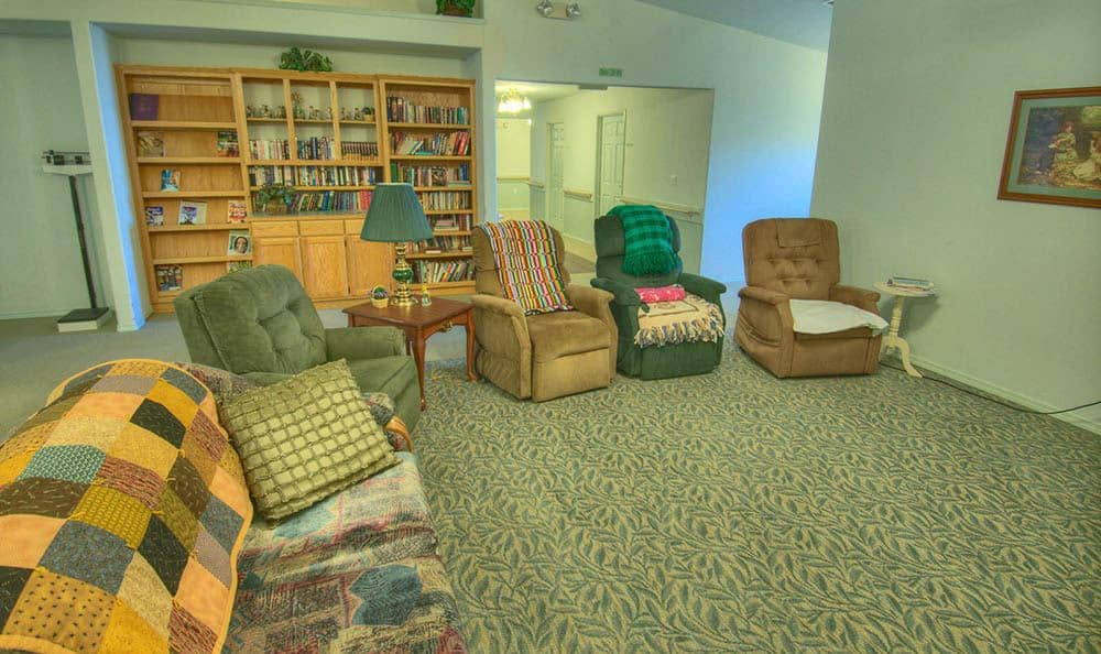 Library and Sitting Room at Dorian Place Assisted Living