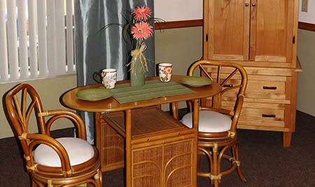 Apartment dining area at The Homestead Assisted Living in Fallon