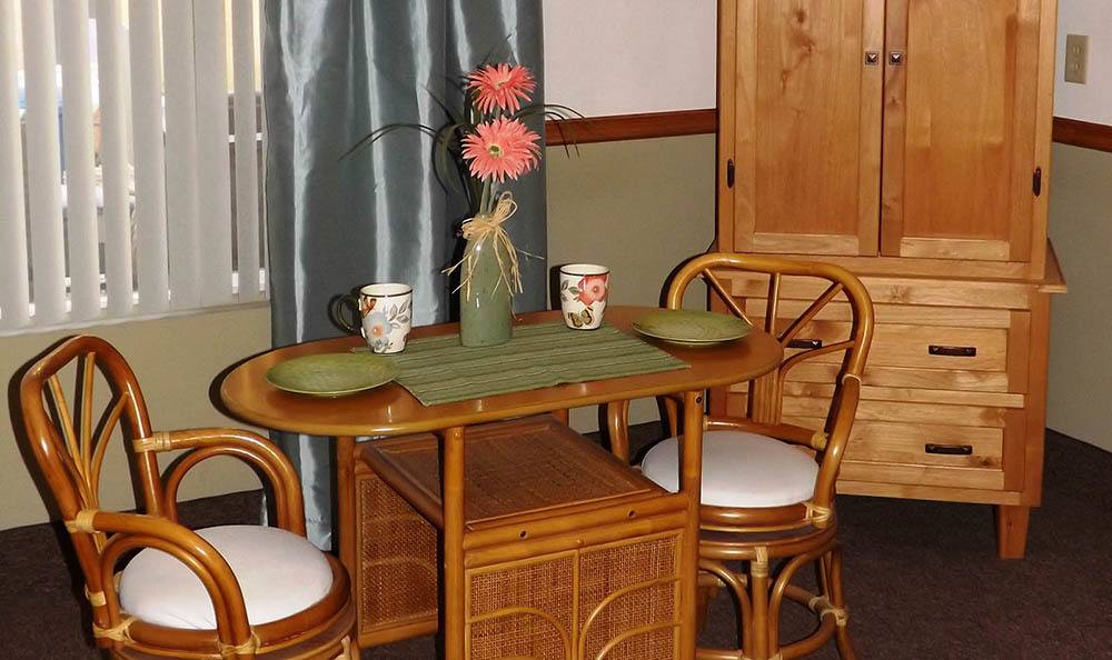 Apartment Dining Area At The Homestead Assisted Living