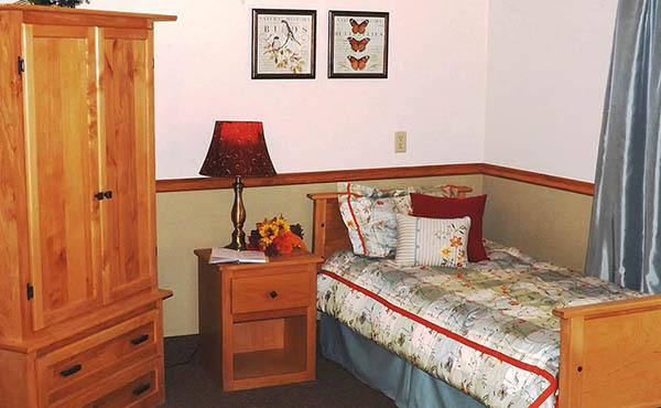 Bedroom at The Homestead Assisted Living in Fallon