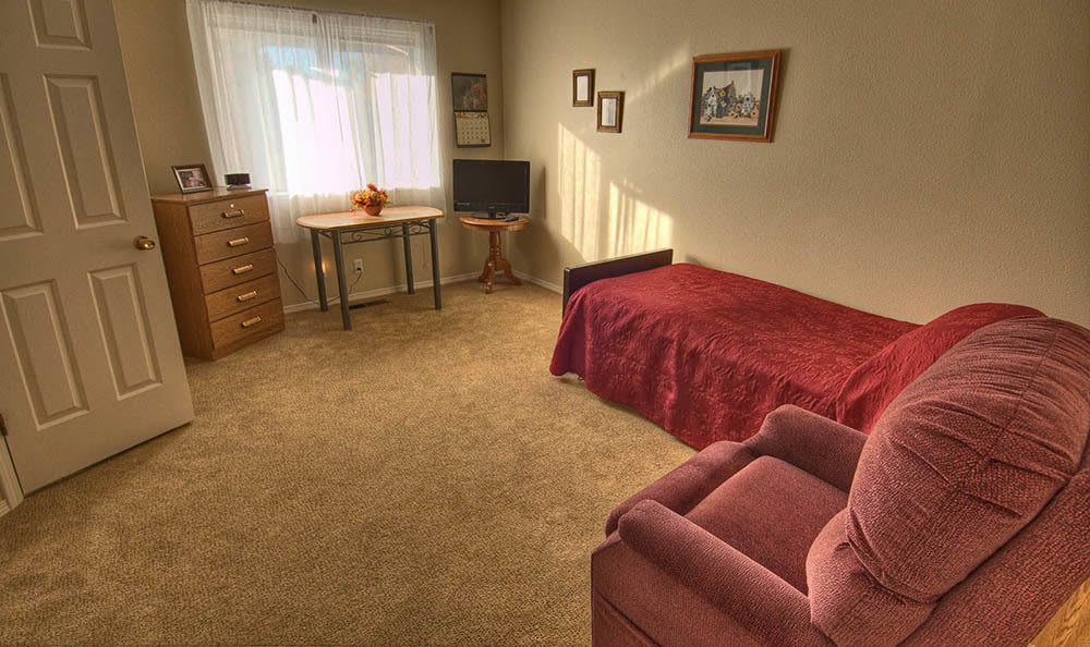 Bedroom at Indianhead Estates Residential Care in Weiser