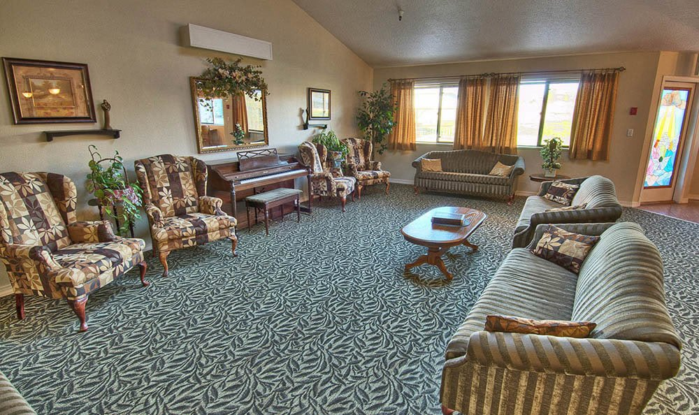 Lobby Of Senior Living at Indianhead Estates Residential Care