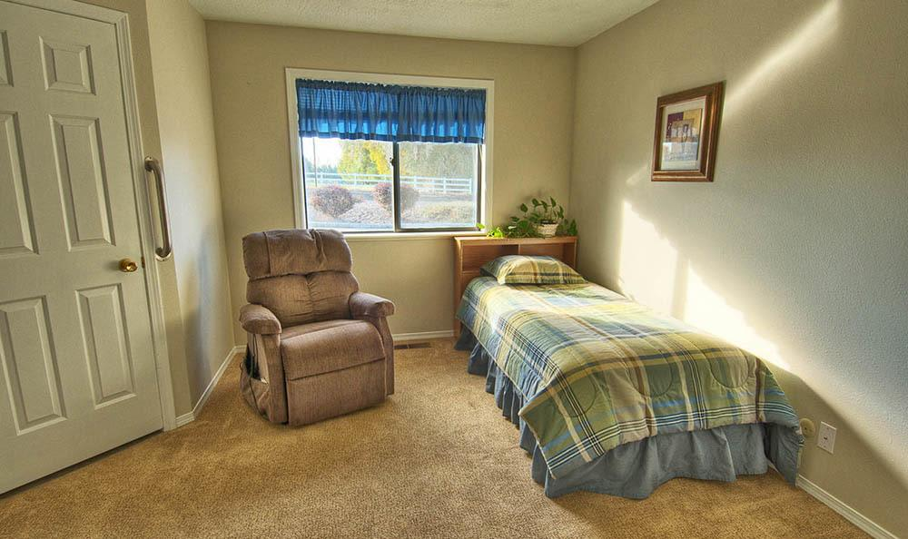 Model Bedroom at Indianhead Estates Residential Care