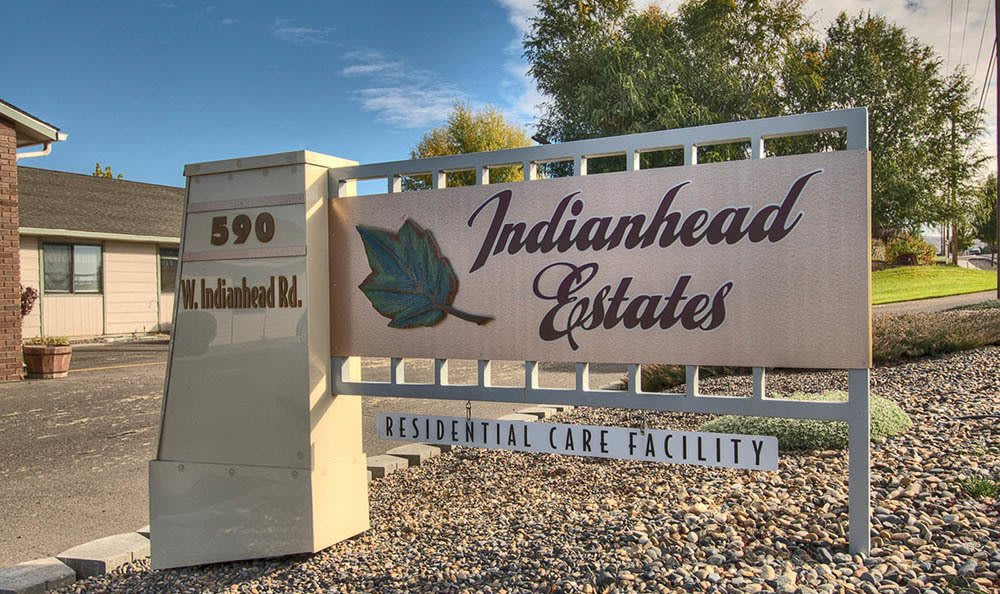 Front Entrance Sign at Indianhead Estates Residential Care
