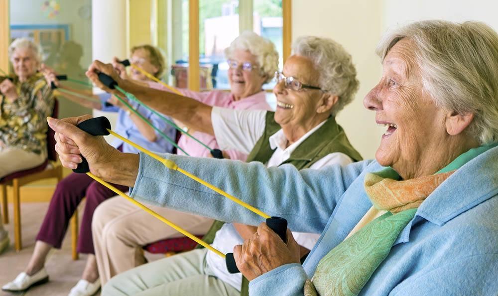 Group Exercise at Logan Creek Retirement Community