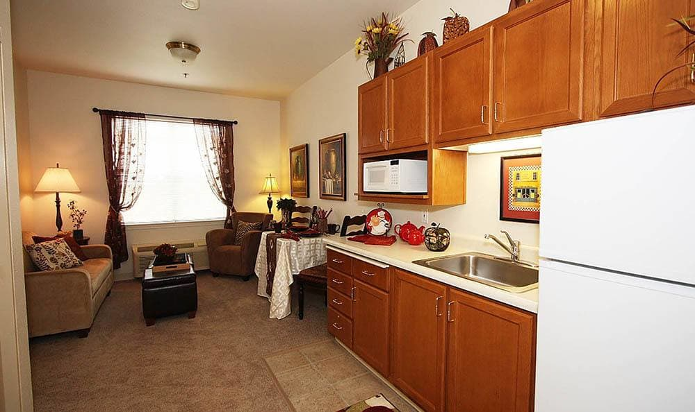 Studio Apartment at The Meadows - Assisted Living in Elk Grove.