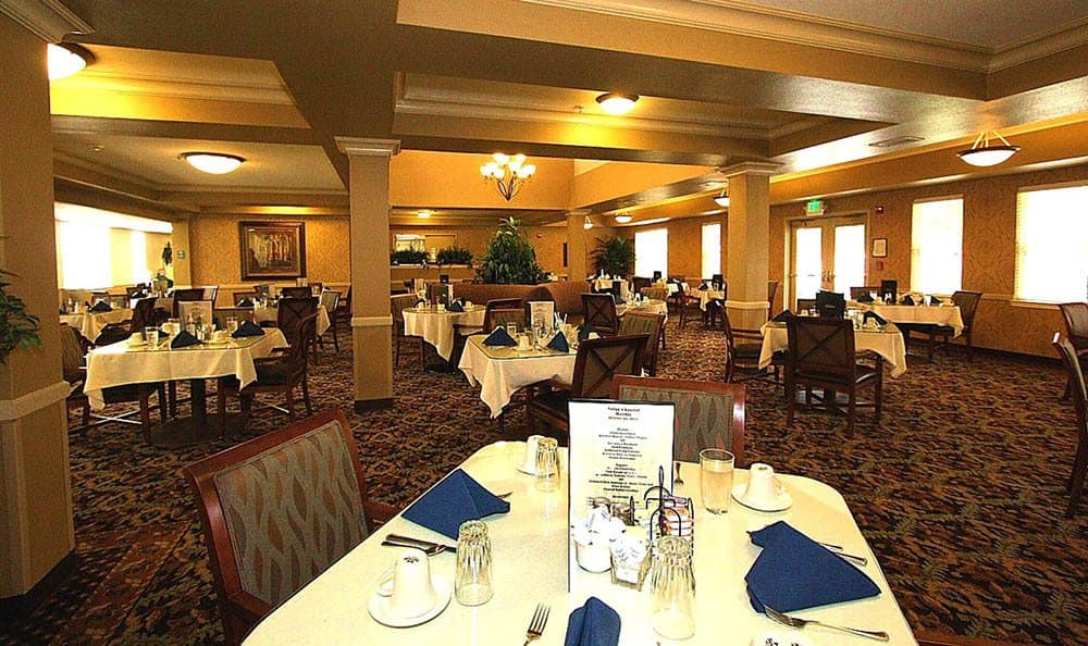 Community Dining Room at The Meadows - Assisted Living