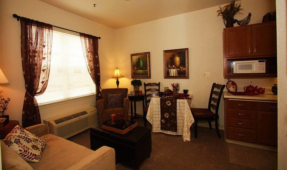 Interior of Apartment At The Meadows - Assisted Living in Elk Grove.