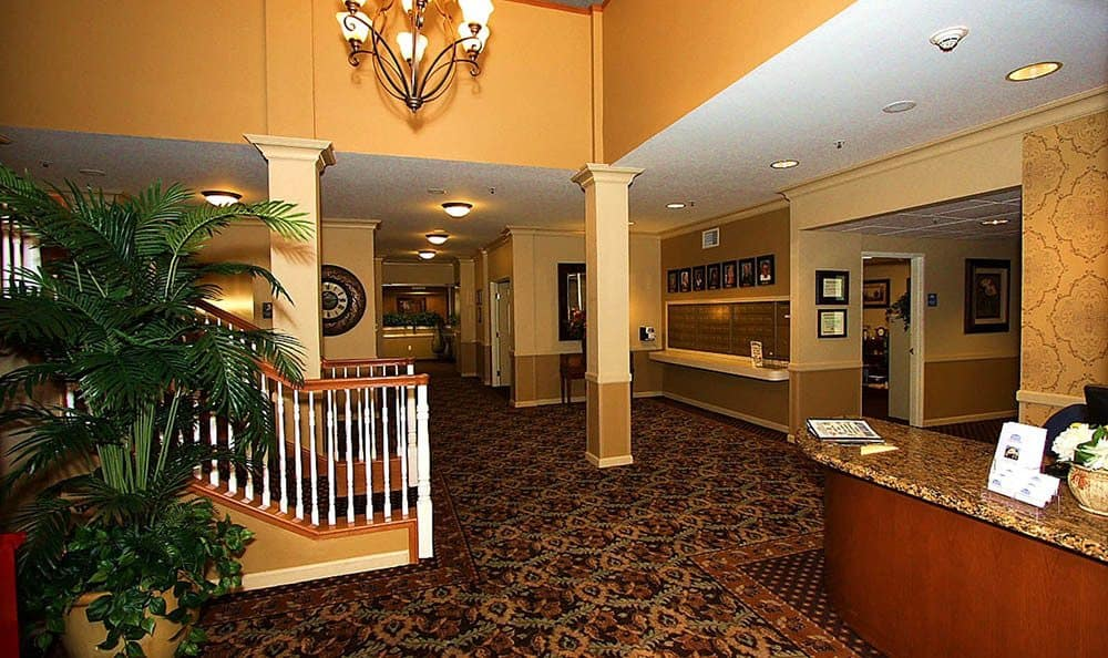 Welcoming Lobby at The Meadows - Assisted Living in Elk Grove.