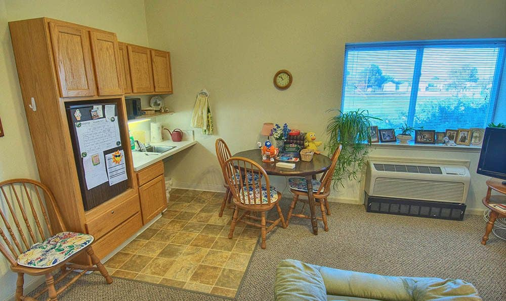 Interior of Studio at Wellsprings Assisted Living