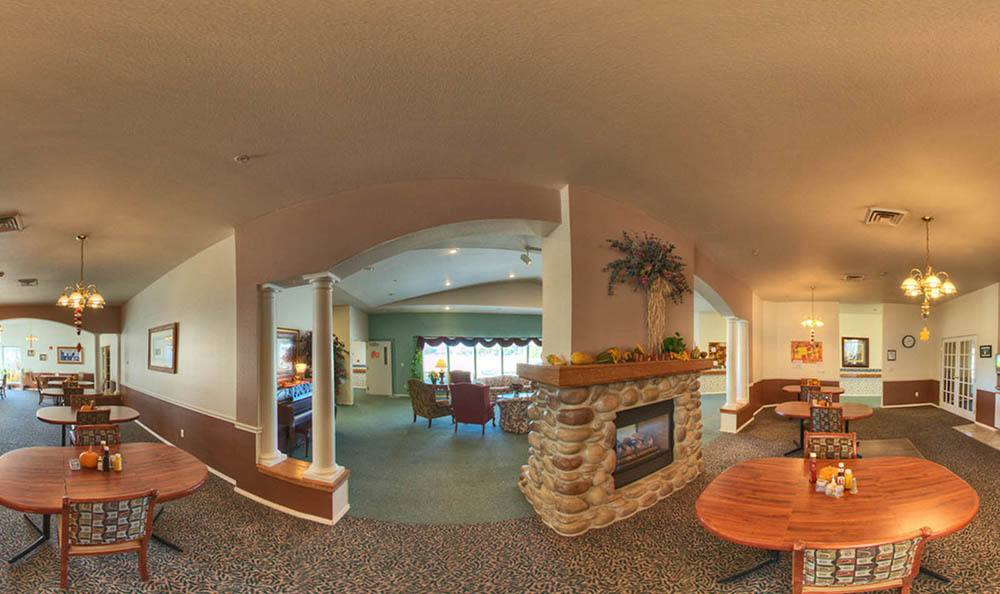 Interior Panorama of The Willows Retirement & Assisted Living in Blackfoot.
