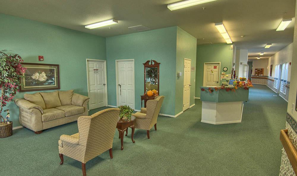 Reception Area At The Willows Retirement & Assisted Living in Blackfoot.