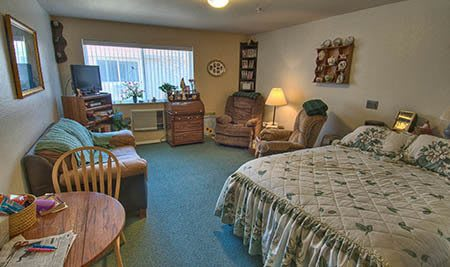 Bedroom at The Willows Retirement & Assisted Living in Blackfoot