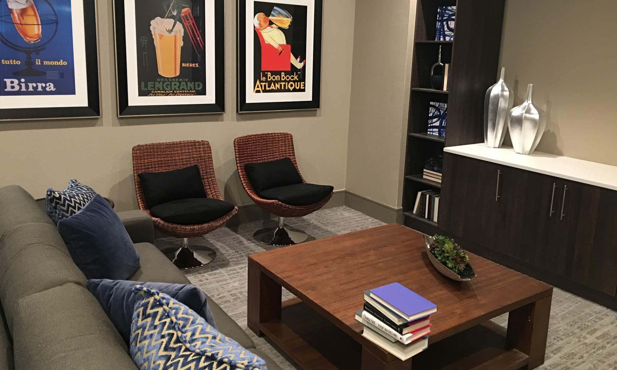 Lounge area at The Hamilton Apartments