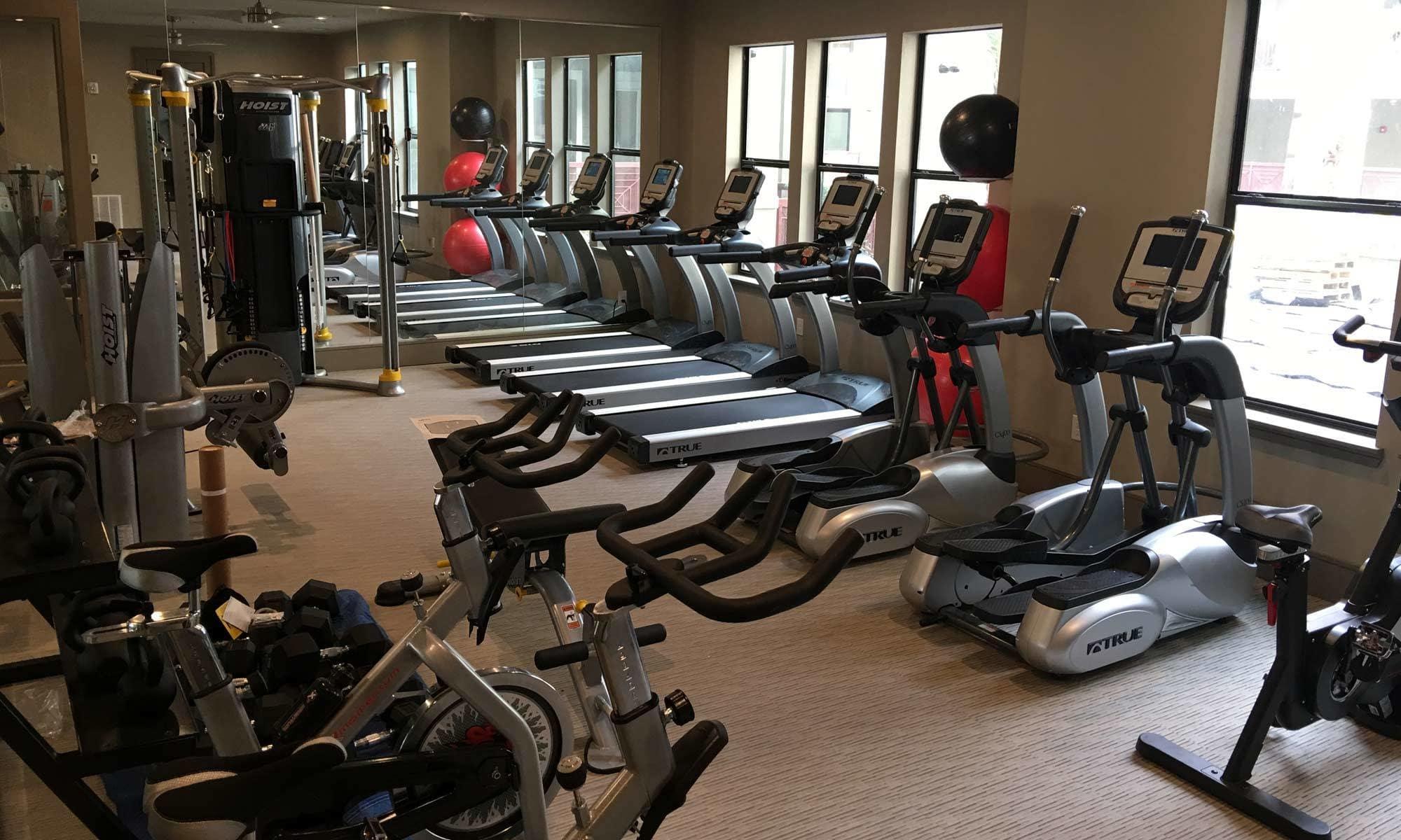 Fitness Center at The Hamilton Apartments