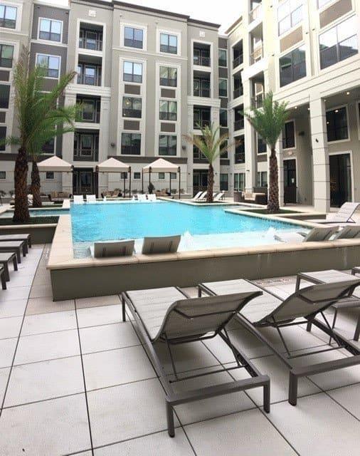 Pool at The Hamilton Apartments