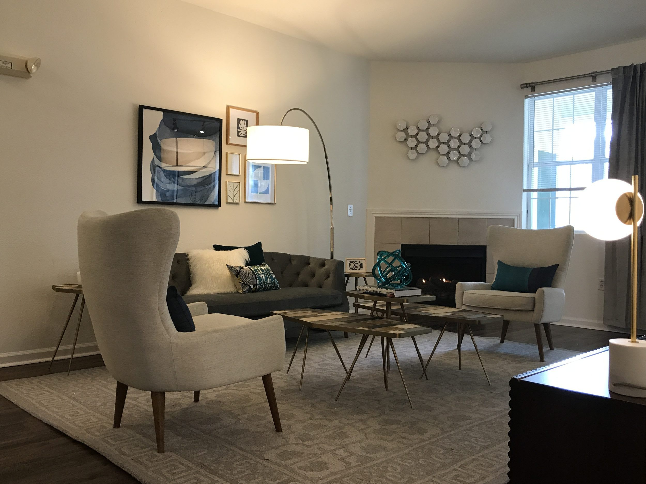 Living Room at Heritage on the Merrimack