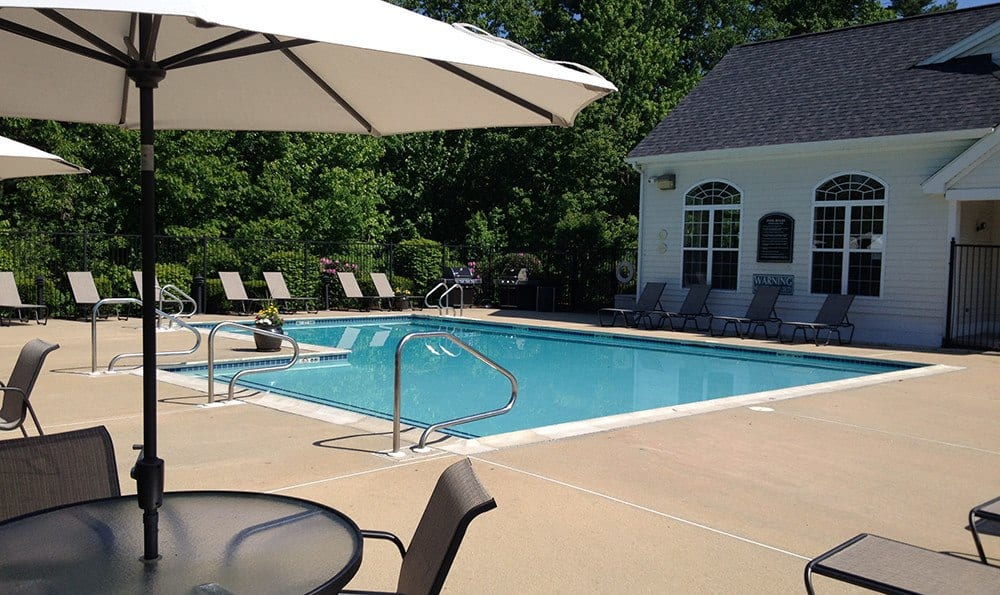 Another picture of our sparkling swimming pool at Heritage on the Merrimack.