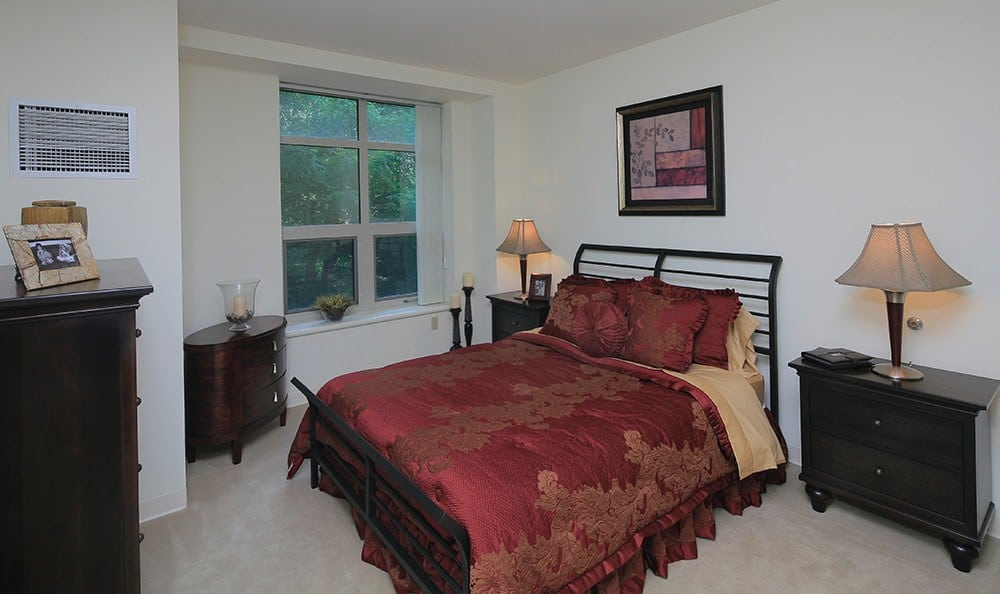 Just one of the spacious bedrooms in our luxury apartment community in Burlington.