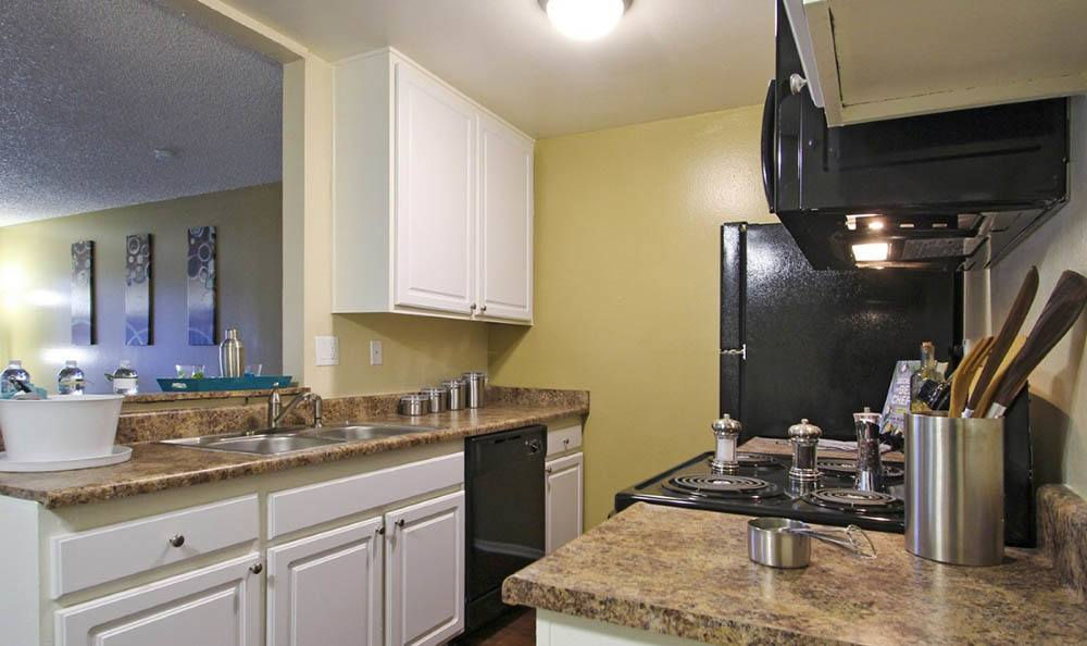 Kitchen At Clubhouse At Apartments In Pomona California