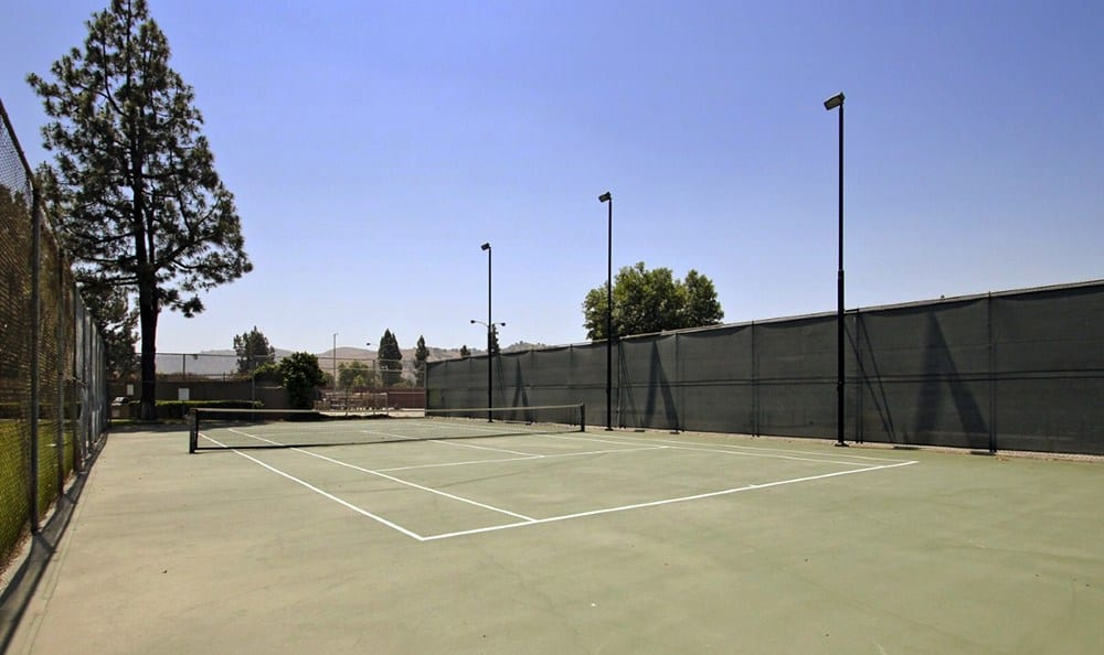 Tennis Courts At Clubhouse At Apartments In Pomona California