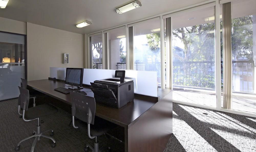 Business Center At Apartments In Garden Grove California