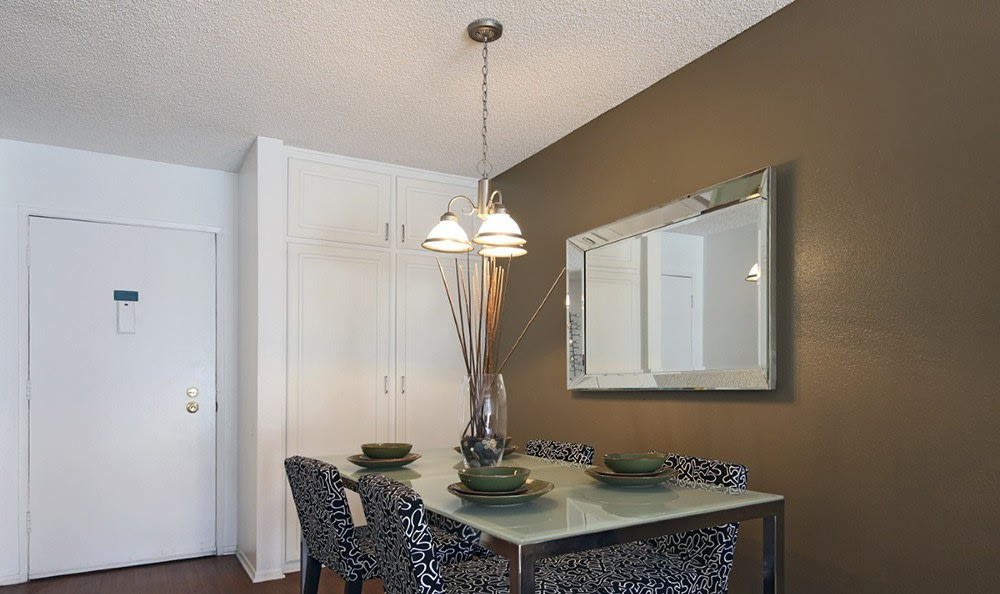Dining Area At Apartments In Garden Grove California