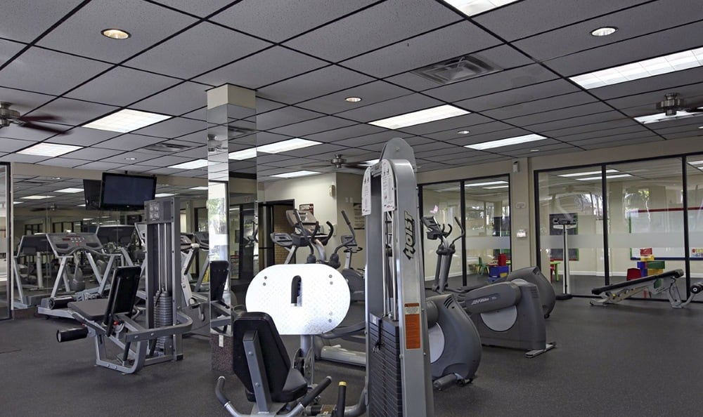 Fitness Center At Apartments In Garden Grove California