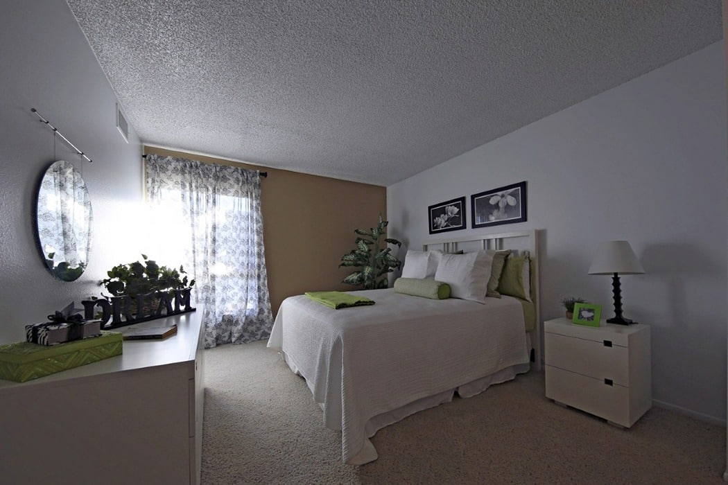 Master bedroom at Crystal View Apartments