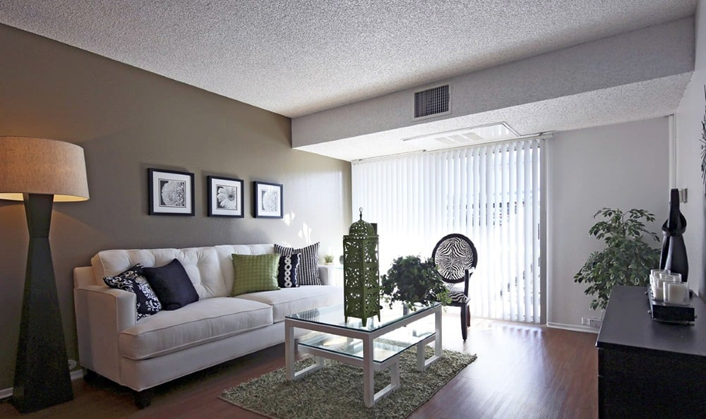 Living Room At Apartments In Garden Grove California