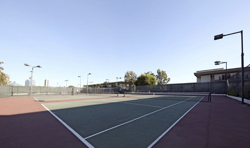 Tennis Courts At Apartments In Garden Grove California