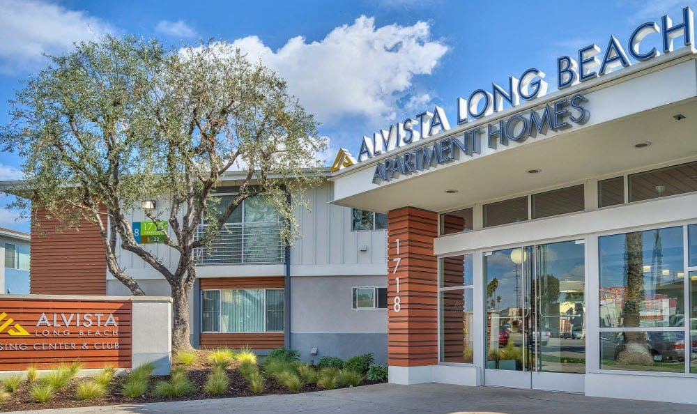Exterior view of the entrance to Alvista Long Beach