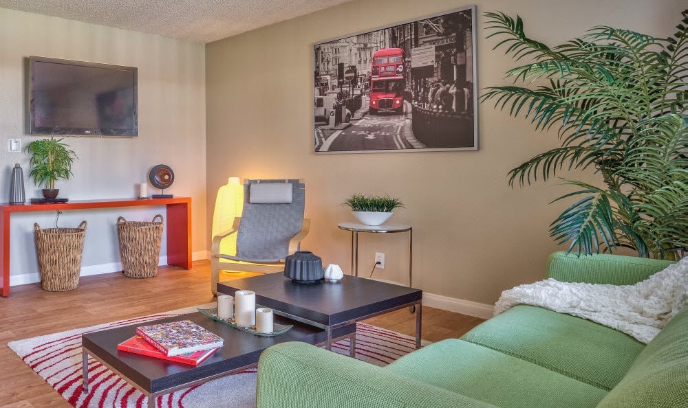 A view of a furnished living room at Alvista Long Beach