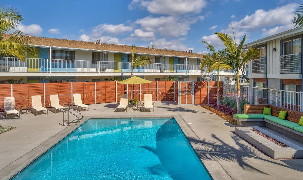 Take a seat by the pool at Alvista Long Beach