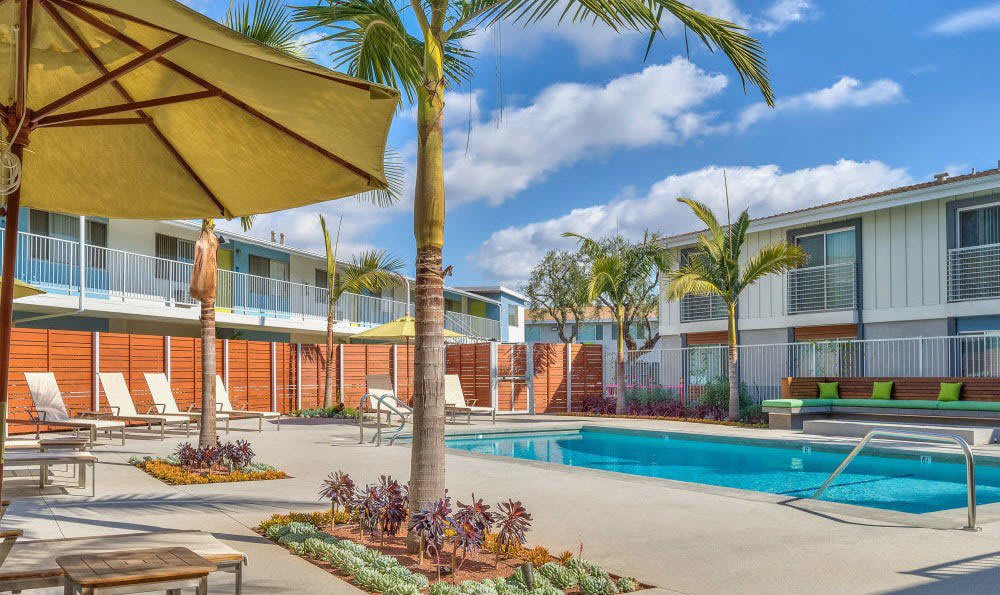 The resort-style pool is available to residents at Alvista Long Beach