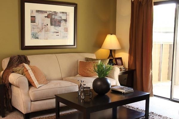 An example living room at Alvista Terrace