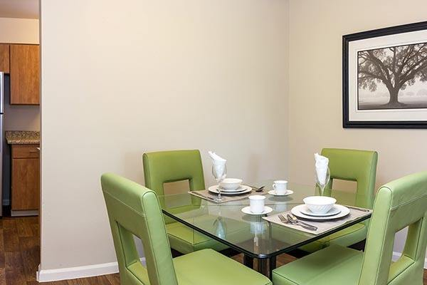 Dining Room At Our Aurora Apartment Rentals