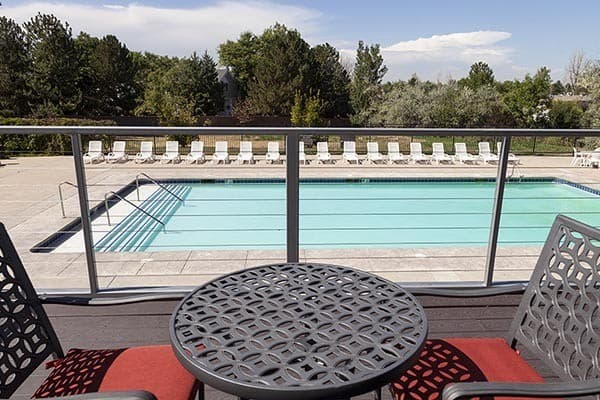 Sparkling Swimming Pool At Our Aurora Apartment Rentals