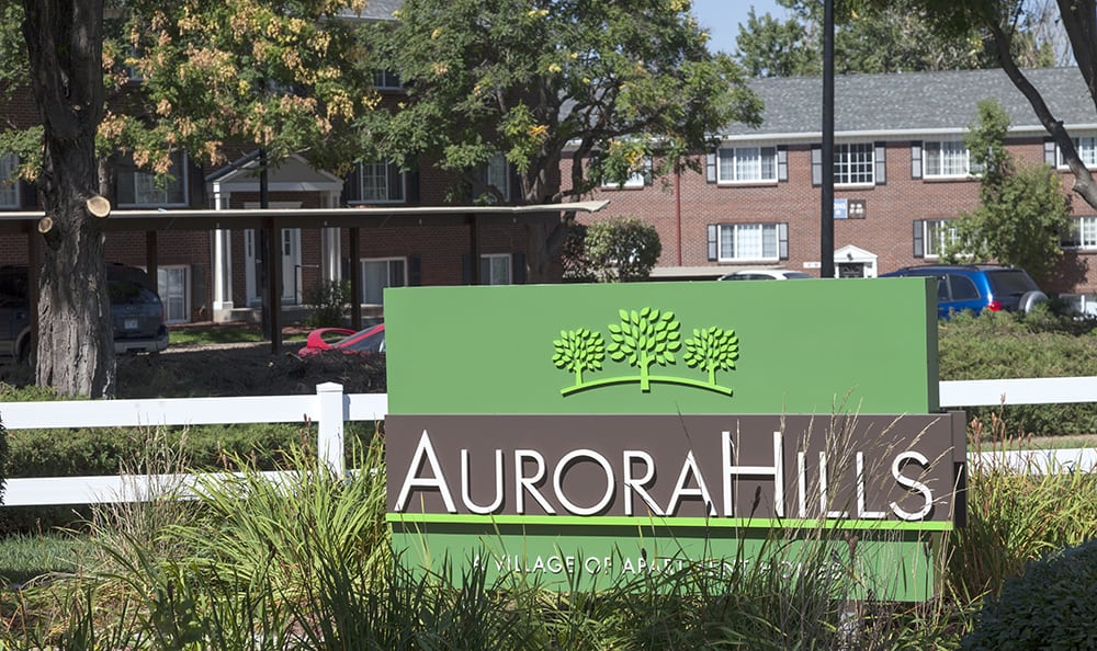Sign At Our Aurora Colorado Apartment Rentals